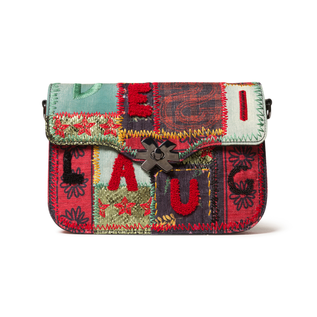 DESIGUAL Patchwork Crossbody Purse