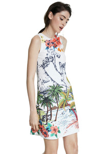 DESIGUAL Tropical Mini Dress