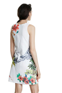 DESIGUAL Tropical Mini Dress back