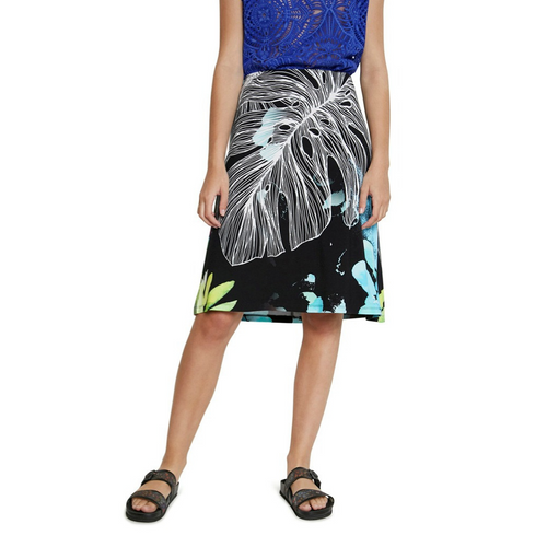 DESIGUAL Tropical Pull-on Skirt