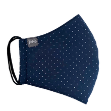 Load image into Gallery viewer, Jak's Protective Mask - navy dots