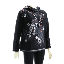 Load image into Gallery viewer, LEOPARDS & ROSES Canvas Jacket - black