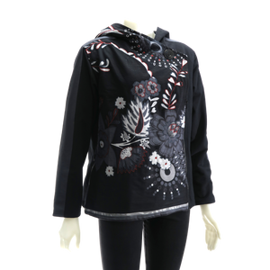 LEOPARDS & ROSES Canvas Jacket - black