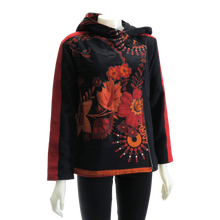 Load image into Gallery viewer, LEOPARDS & ROSES Canvas Jacket - burnt orange