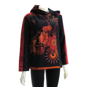 LEOPARDS & ROSES Canvas Jacket - burnt orange