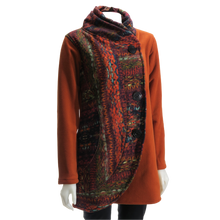 Load image into Gallery viewer, LEOPARDS & ROSES Half Circle Jacket - burnt orange