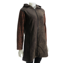 Load image into Gallery viewer, LEOPARDS & ROSES Leather Hoodie - brown