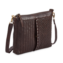 Load image into Gallery viewer, MILO Leather Crossbody Purse - side view