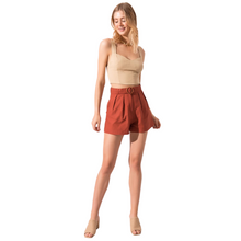 Load image into Gallery viewer, Model wearing BSL Brick Belted Shorts