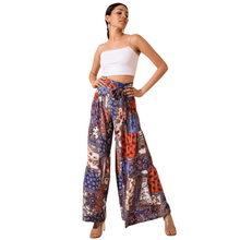 Load image into Gallery viewer, Model wearing BSL Wide Leg Trousers - navy