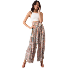 Load image into Gallery viewer, Model wearing BSL Wide Leg Trousers - beige