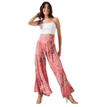 Load image into Gallery viewer, Model wearing BSL Wide Leg Trousers - pink