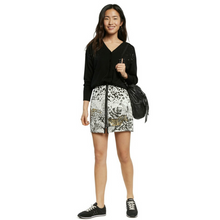 Load image into Gallery viewer, Model wearing DESIGUAL Tropical Zipper Skirt