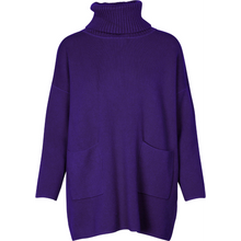 Load image into Gallery viewer, OWN IT Turtle Neck Sweater - purple
