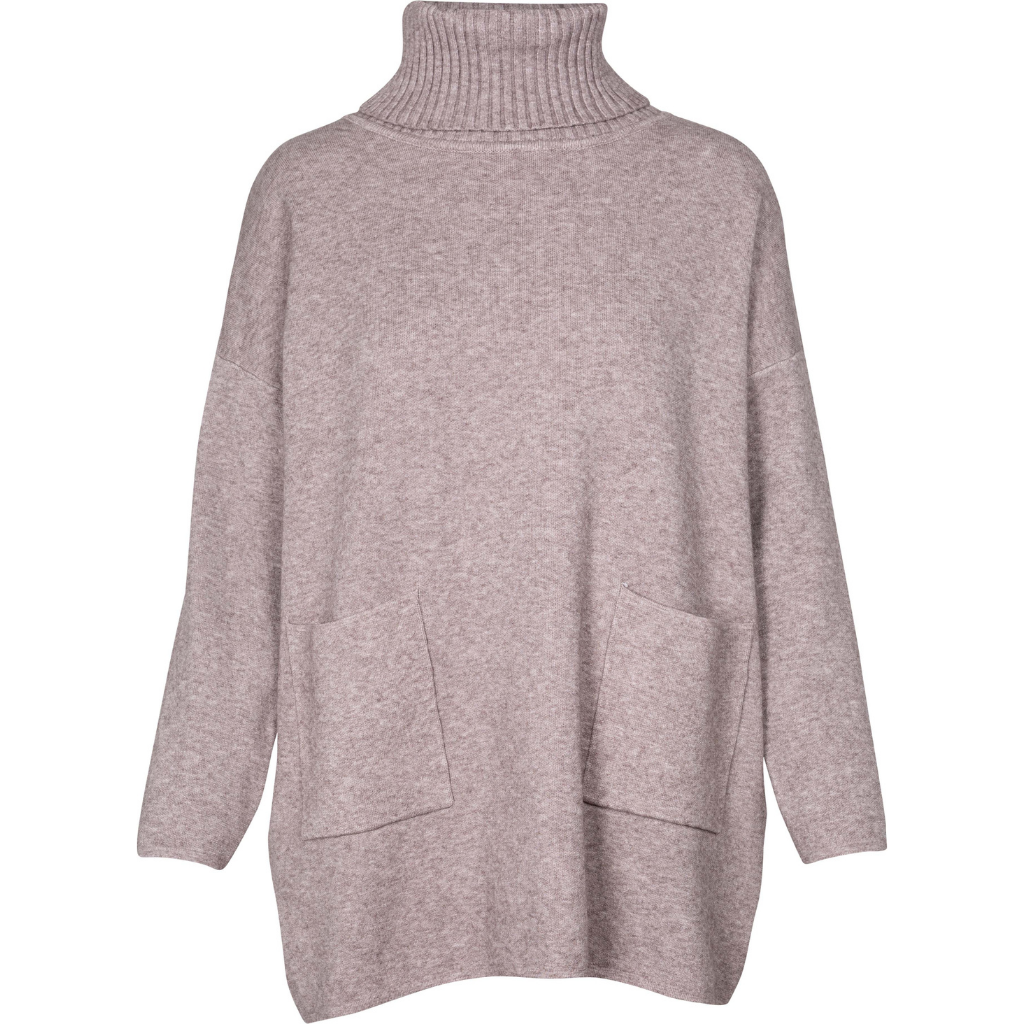 OWN IT Turtle Neck Sweater - taupe