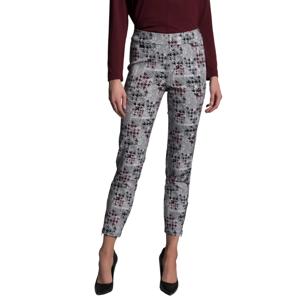 PICADILLY Bordeaux Black Pants