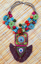Load image into Gallery viewer, TRESKA Raffia Statement Necklace