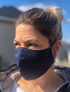 woman wearing Jak's Protective Mask