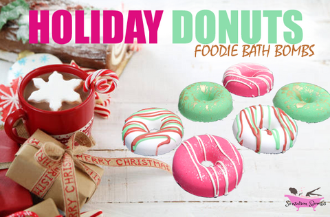 Holiday Bath Bomb Donuts