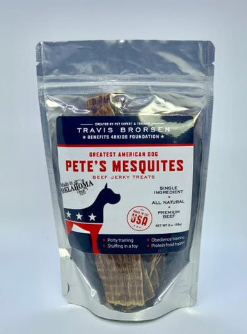 Image of Pete's Mesquites All Natural, Premium Beef Jerky Treats- 2 oz Bag