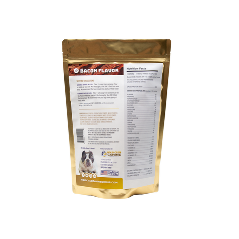 SBK'S GOLD DUST All Natural Performance Dog Recipe- Bacon Flavor-180 Servings - GOLD CLUB CANINE GROUP LLC