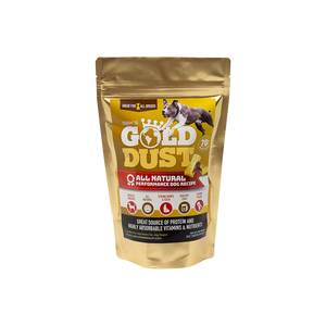SBK'S GOLD DUST All Natural Performance Dog Recipe- Peanut Butter Flavor-30 Servings - GOLD CLUB CANINE GROUP LLC