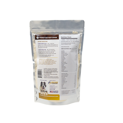 Image of SBK'S GOLD DUST All Natural Performance Dog Recipe- Peanut Butter Flavor- 90 Servings - GOLD CLUB CANINE GROUP LLC