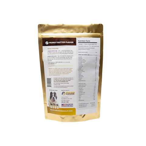 Image of SBK'S GOLD DUST All Natural Performance Dog Recipe- Peanut Butter Flavor-180 Servings - GOLD CLUB CANINE GROUP LLC