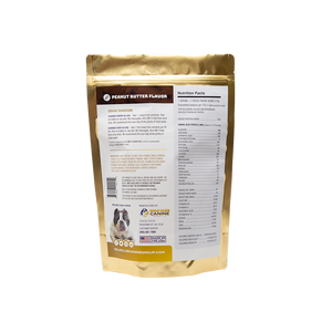 SBK'S GOLD DUST All Natural Performance Dog Recipe- Peanut Butter Flavor-180 Servings - GOLD CLUB CANINE GROUP LLC