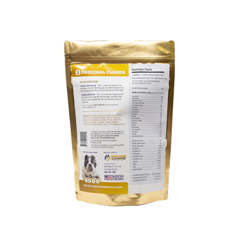 SBK'S GOLD DUST All Natural Performance Dog Recipe- Original-180 Servings - GOLD CLUB CANINE GROUP LLC