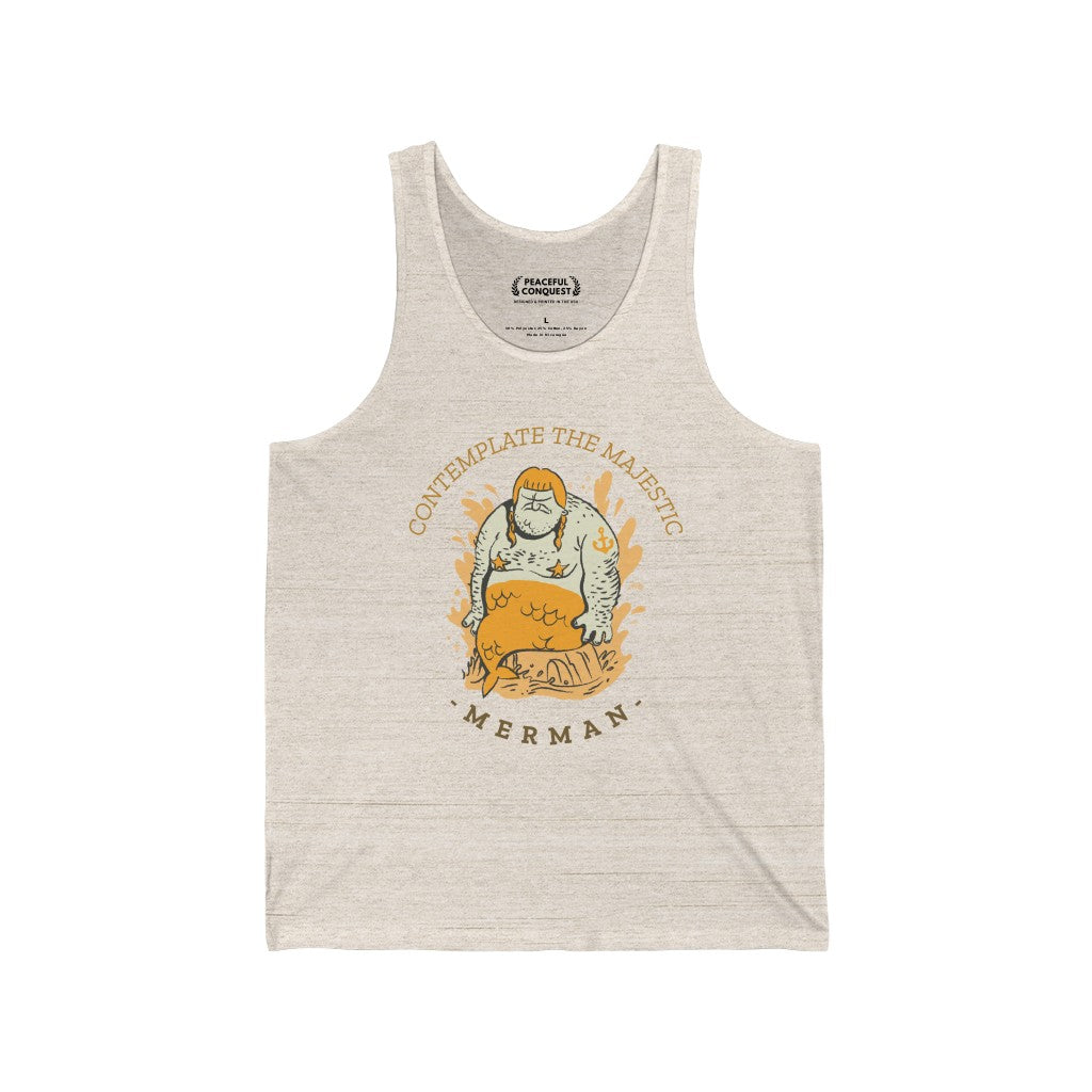Contemplate The Majestic Merman Tank Top
