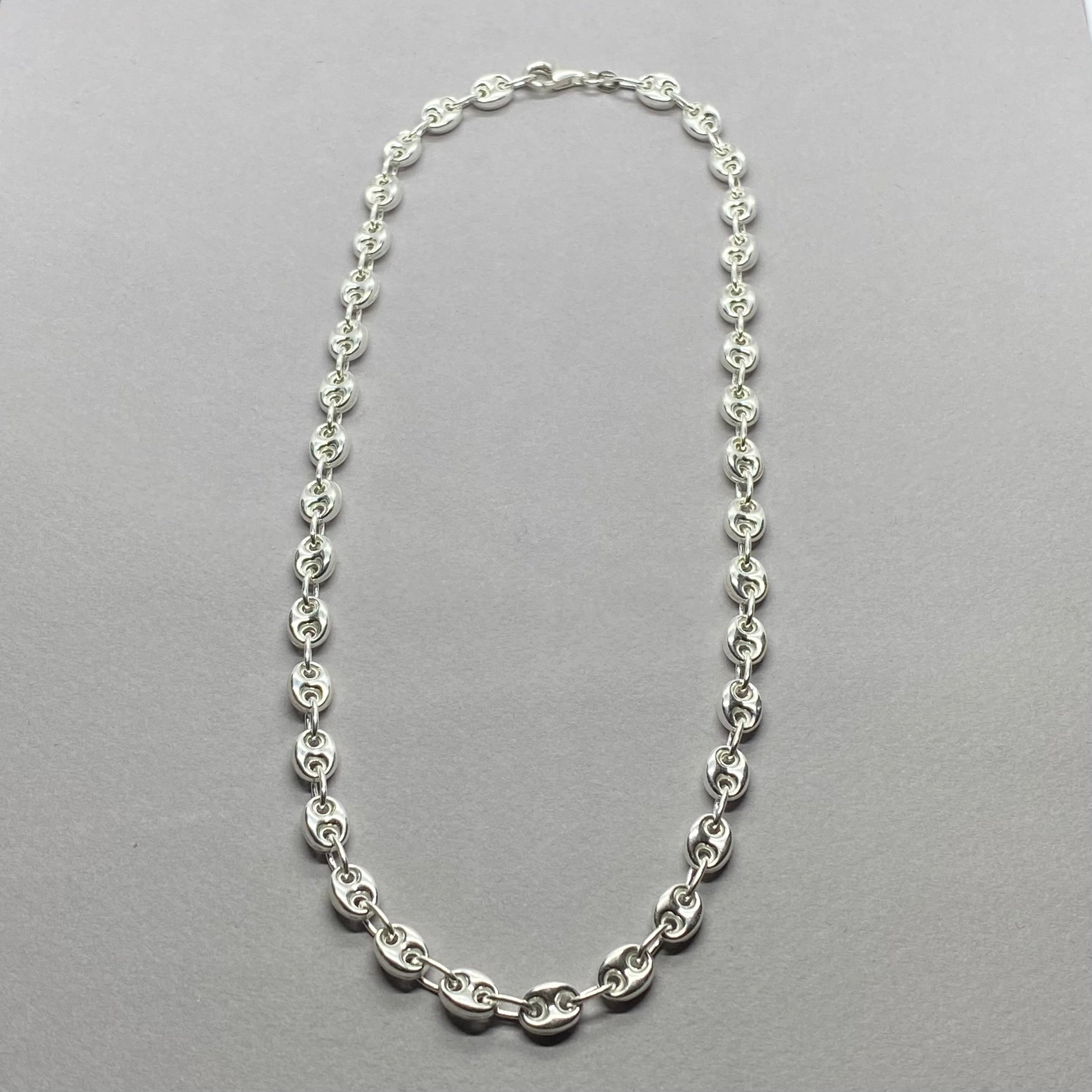 PUFF LINK CHAIN STERLING SILVER