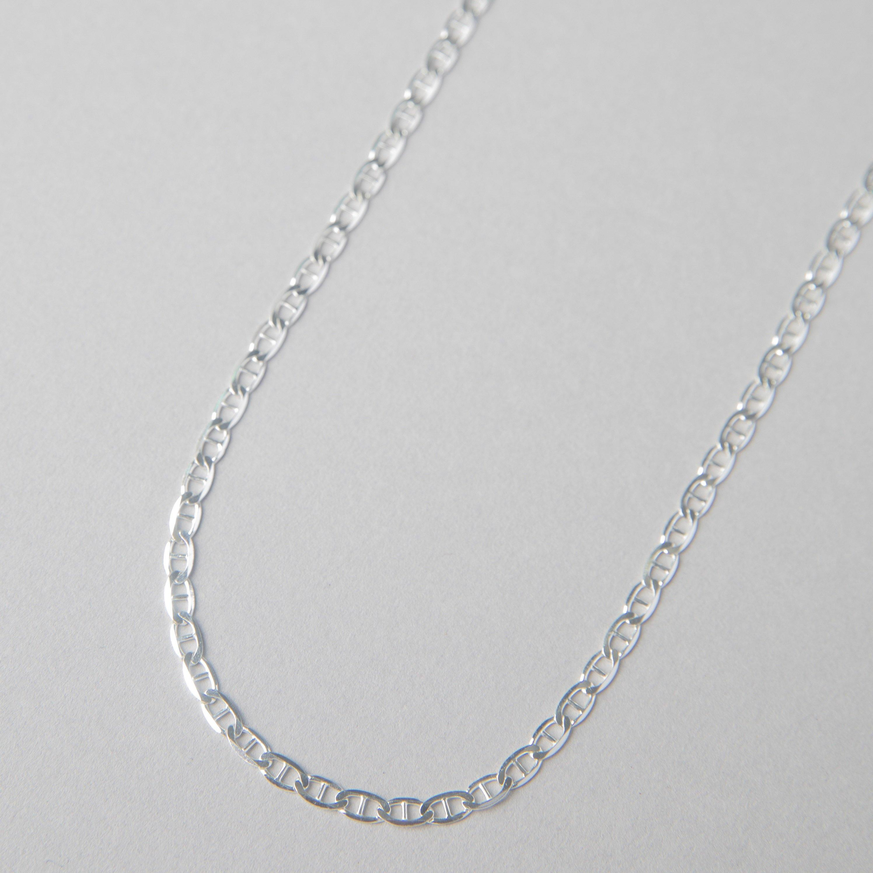 XL FLAT MARINER STERLING CHAIN - bobbie carr