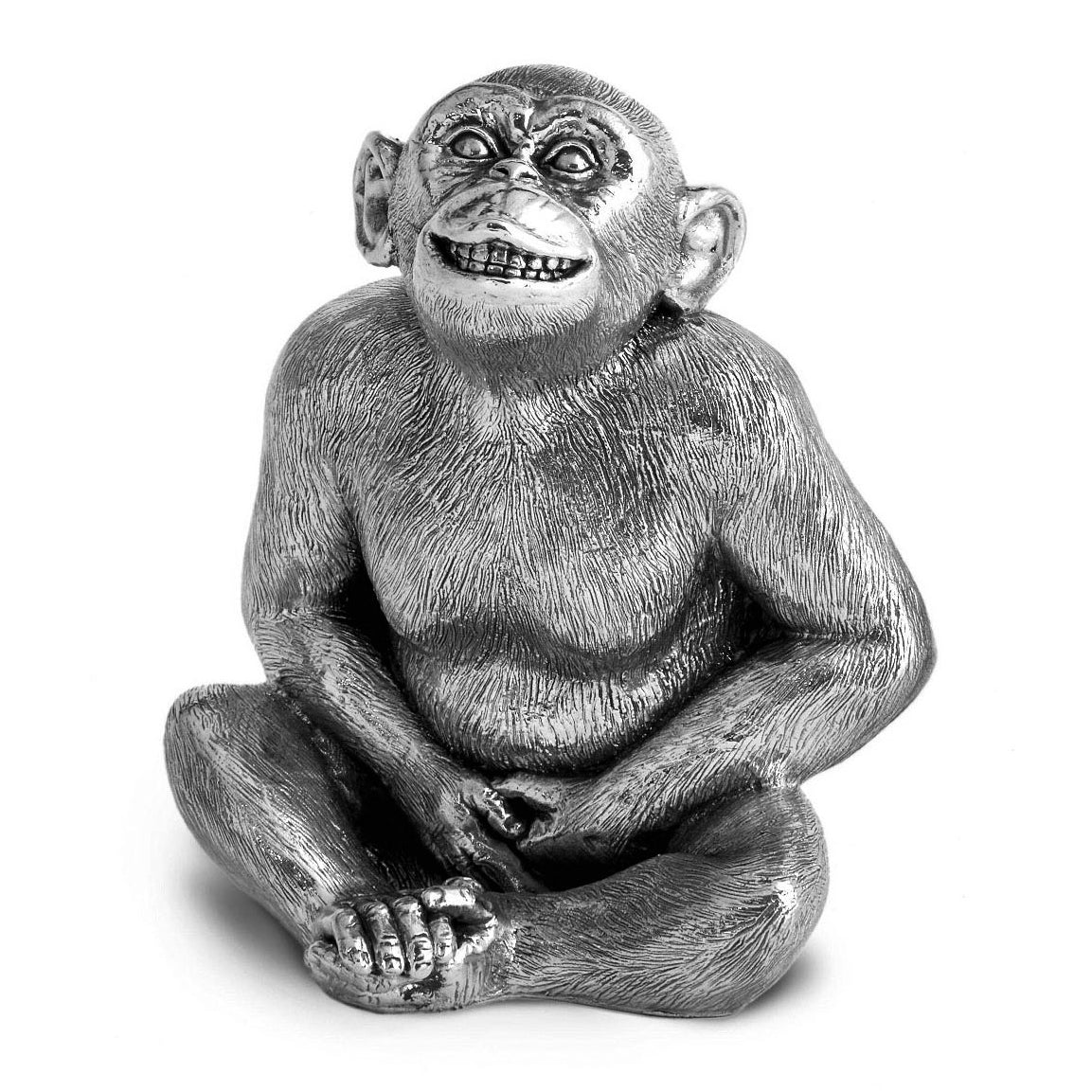 Sterling Silver Chimpanzee - Height 12.5cm-Silverbasket