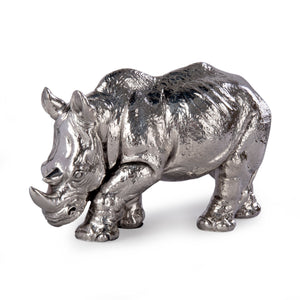 Rhino Sterling Silver Ornament