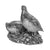 Pair of Silver Partridges - Height 24cm-Silverbasket