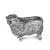 Silver Sheep - Height 6.5cm-Silverbasket