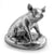 Silver Seated Pig - Height 8cm-Silverbasket