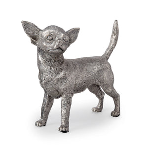 Silver Chihuahua - Height 10cm