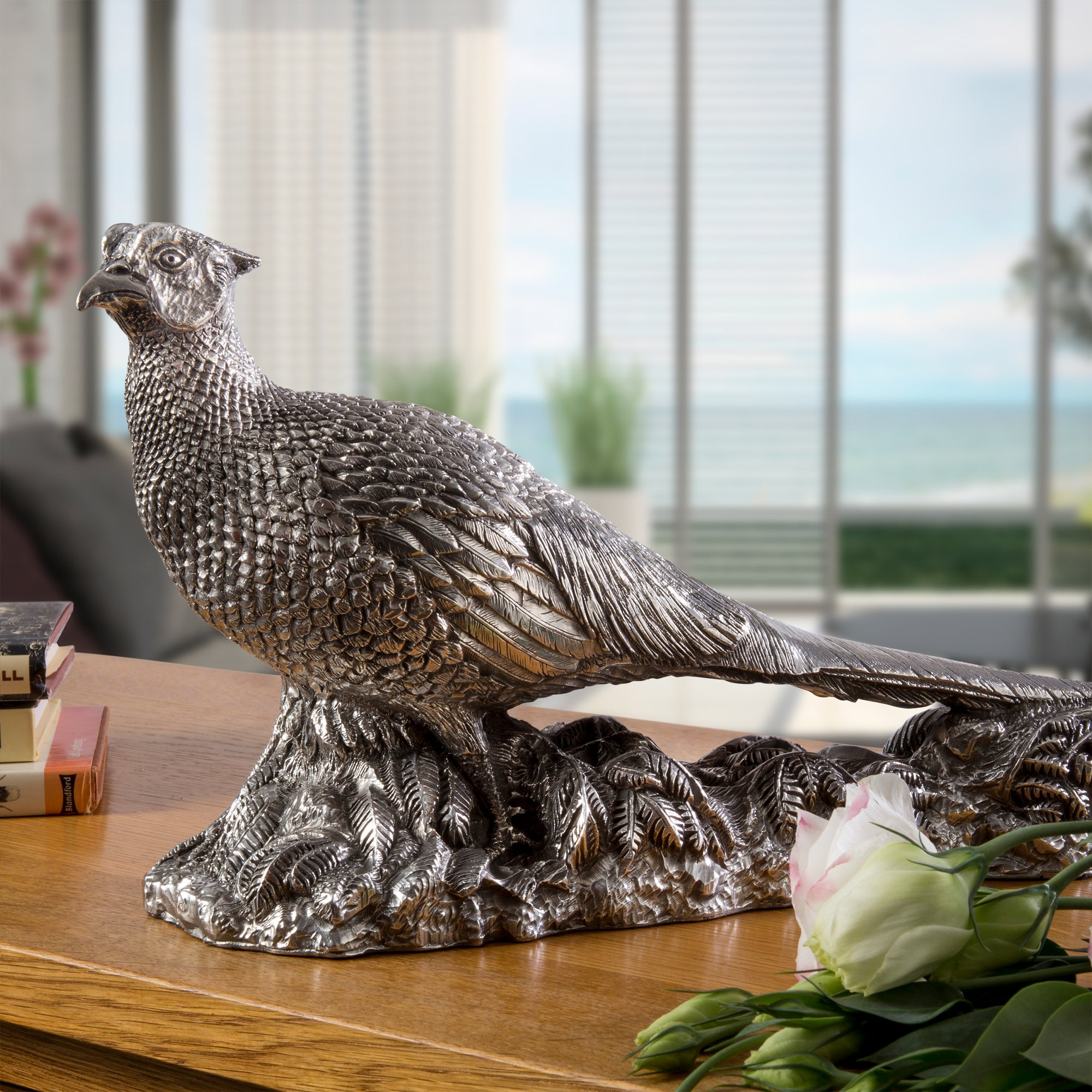 Silver Cock Pheasant- Height 29cm