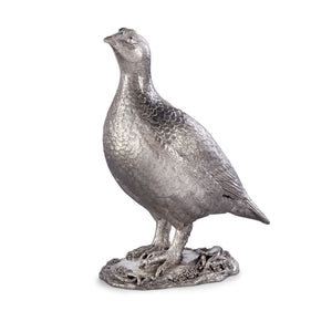 Silver Single Grouse - Height 19cm