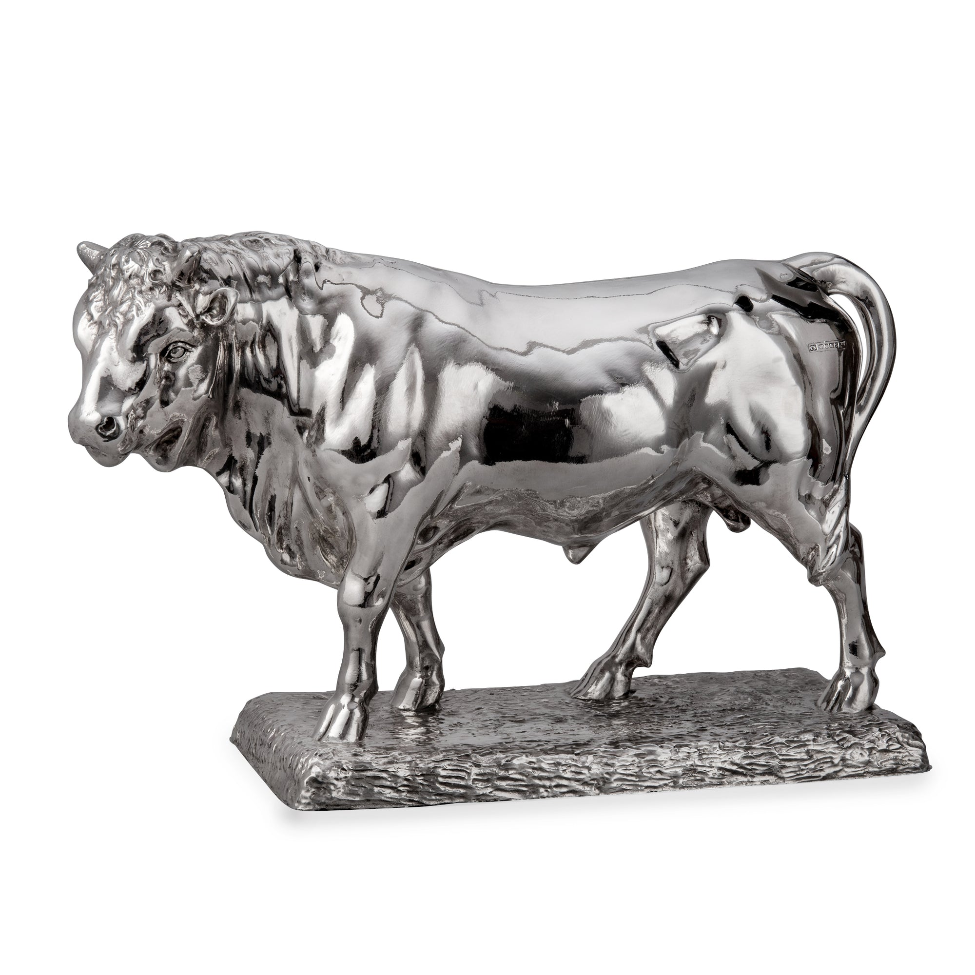Silver Prize Bull - Height 30.5cm