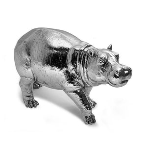 Silver Baby Hippo-Silverbasket