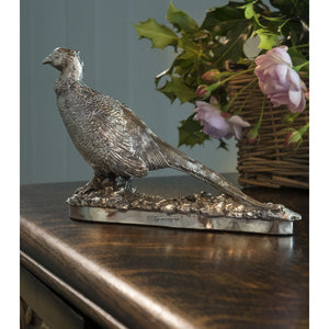 Silver Pheasant- Height 12cm-Silverbasket