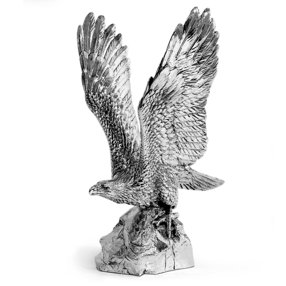 Silver Eagle in Flight - Height 28cm-Silverbasket