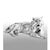 Silver Laying Tiger - Height 10.2cm-Silverbasket