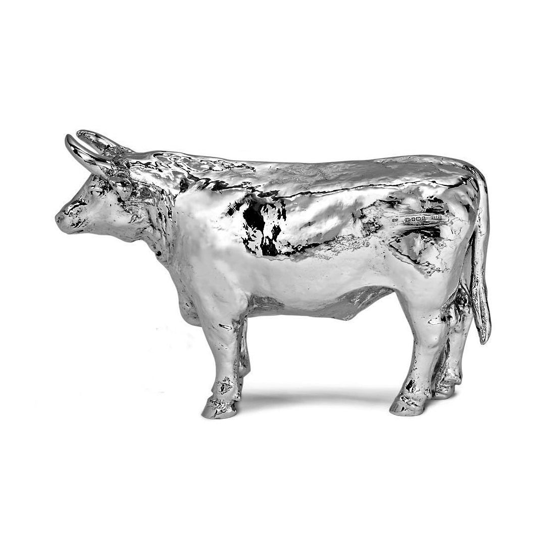 Silver Bull - Height 10cm-Silverbasket