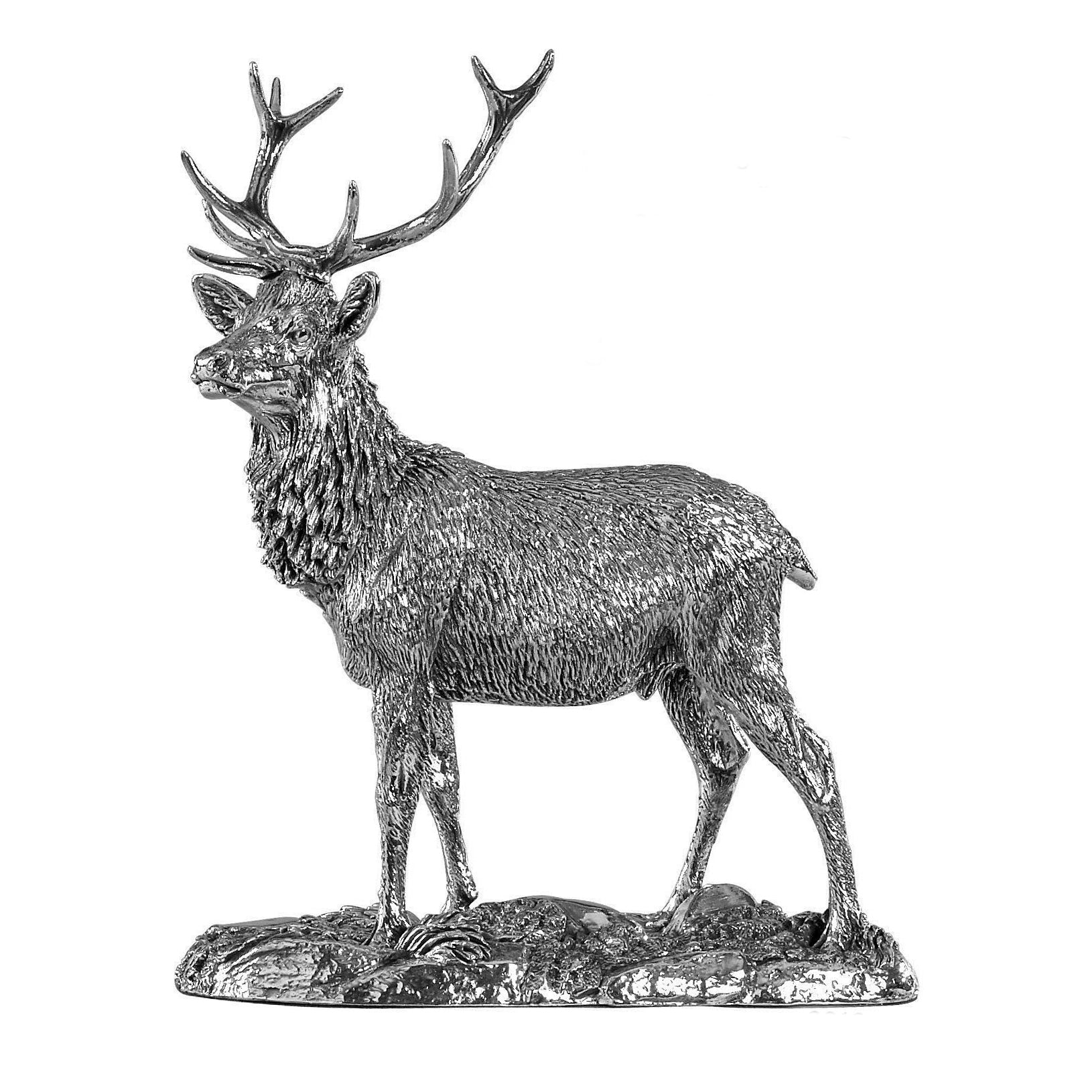 Silver Stag - Height 13.5cm-Silverbasket