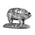 Silver Pig - Height 3.8cm-Silverbasket