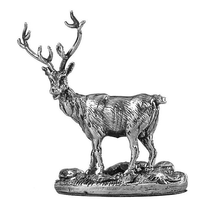Silver Stag - Height 6.5cm-Silverbasket
